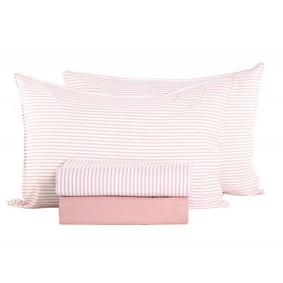 Σεντόνια Υπέρδιπλα Σετ Vintage Pink 240x260