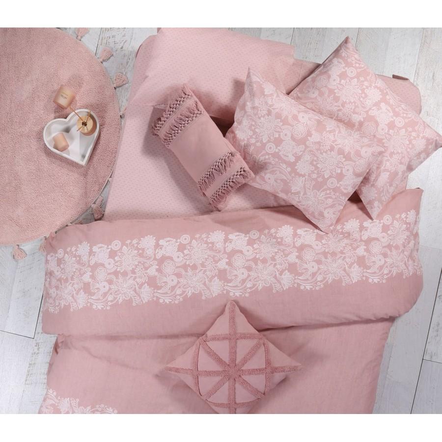 Σεντόνια Μονά Σετ Semplice Pink 170x260