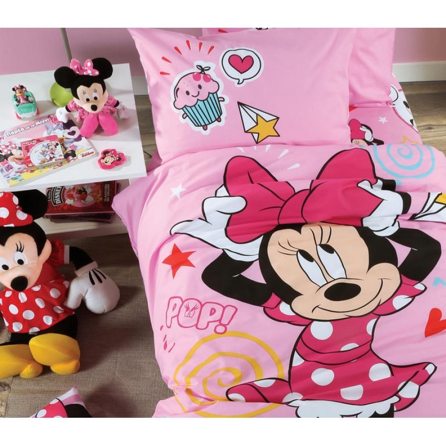 Σεντόνια Παιδκά Σετ Disney Minnie Style Nef Nef 160x260