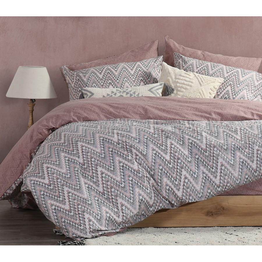 Σετ Παπλωματοθήκη Υπέρδιπλη Mozaik Pink Nef-Nef  240x230