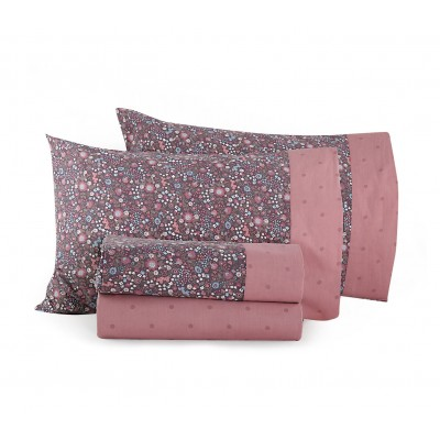 Σετ Παπλωματοθήκη Μονή Fresli Pink Nef-Nef  160x240