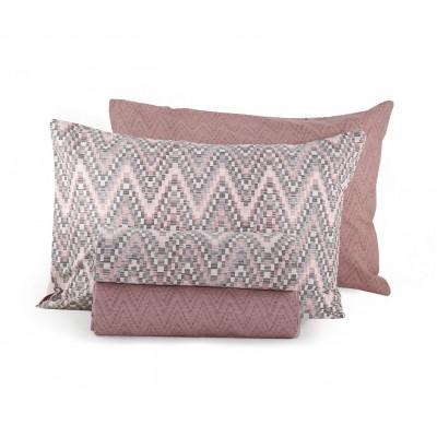 Σετ Σεντόνια Διπλά Mozaik Pink Nef-Nef  200x260