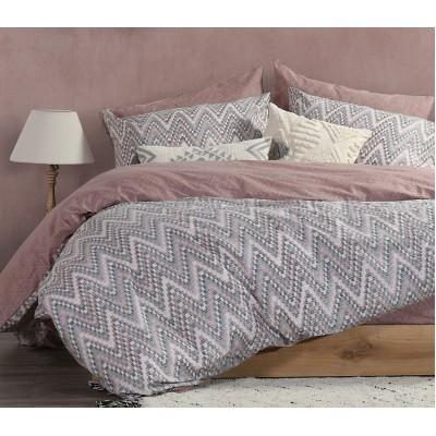 Σετ Σεντόνια Υπέρδιπλα Mozaik Pink Nef-Nef  240x260