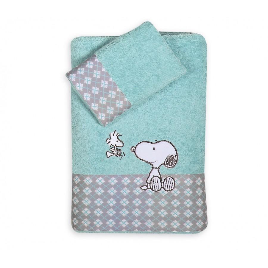 Σετ Βρεφικές Πετσέτες Snoopy Happiness  Nef-Nef  30X50 - 70X140