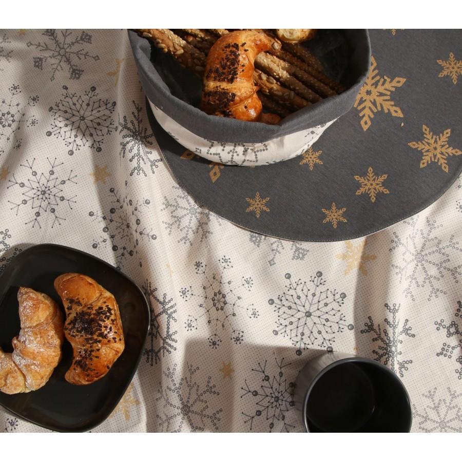 Τραπεζομάντηλο Golden Snowflakes  Nef-Nef  140X180