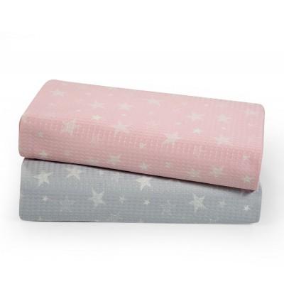 Βρεφική Κουβέρτα Αγκαλιάς Moon Pink 75x110
