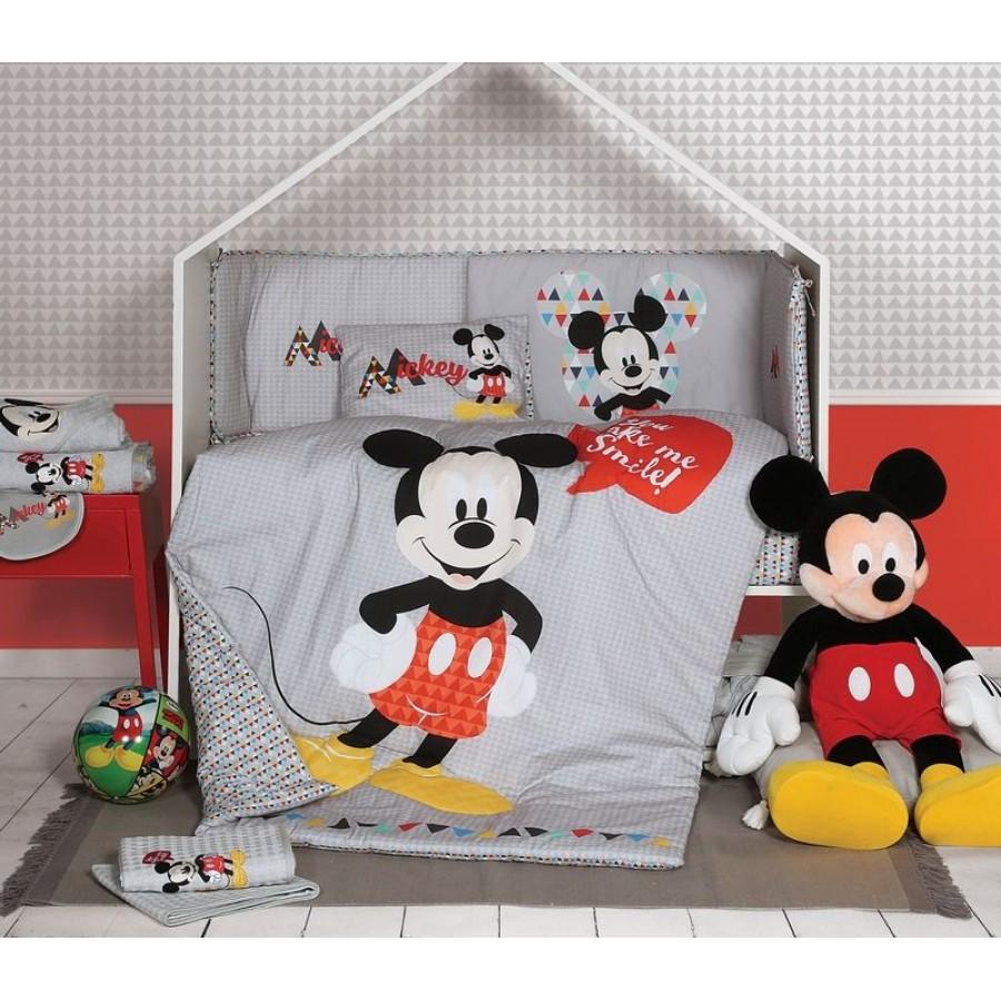 Βρεφική Κουβέρτα Fleece αγκαλιάς Disney Mickey smile Nef Nef 80x110