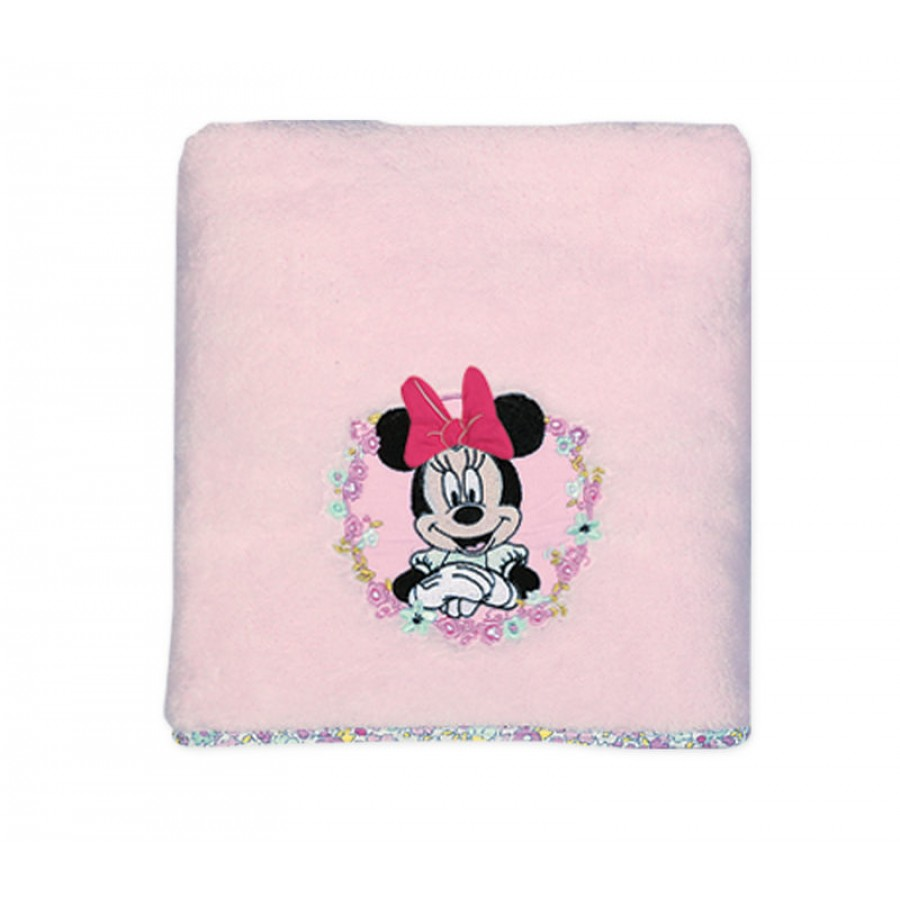 Βρεφική Κουβέρτα Fleece αγκαλιάς Disney Minnie Little Flower Nef Nef 80x110