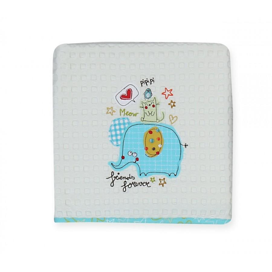 Βρεφική Κουβέρτα Κούνιας 3 Friends 110x150