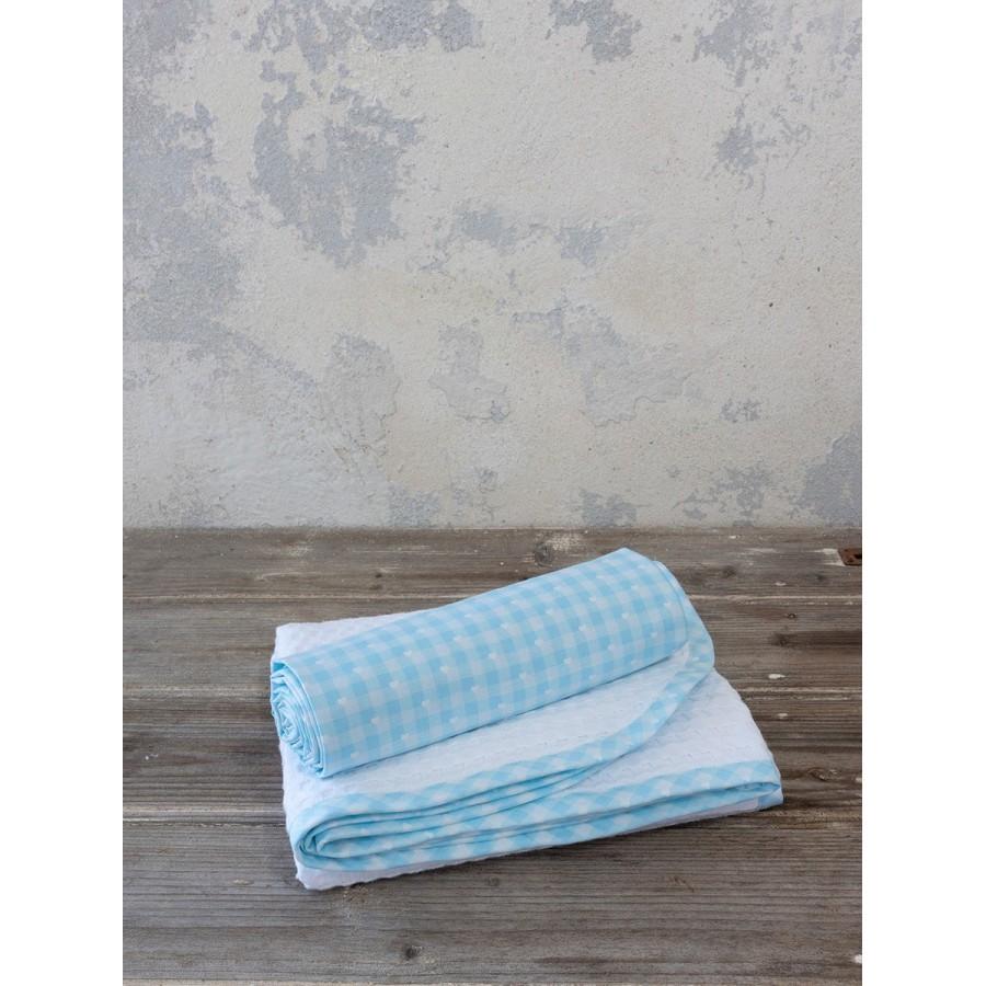 Σεντόνι και Κουβέρτα Πικέ Sweetie Blue Nima Κούνιας 120X165 - 110X140