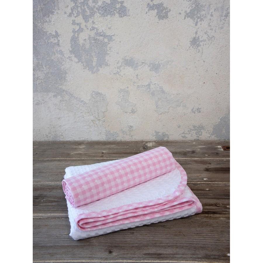 Σεντόνι και Κουβέρτα Πικέ Sweetie Pink Nima Κούνιας 120X165 - 110X140