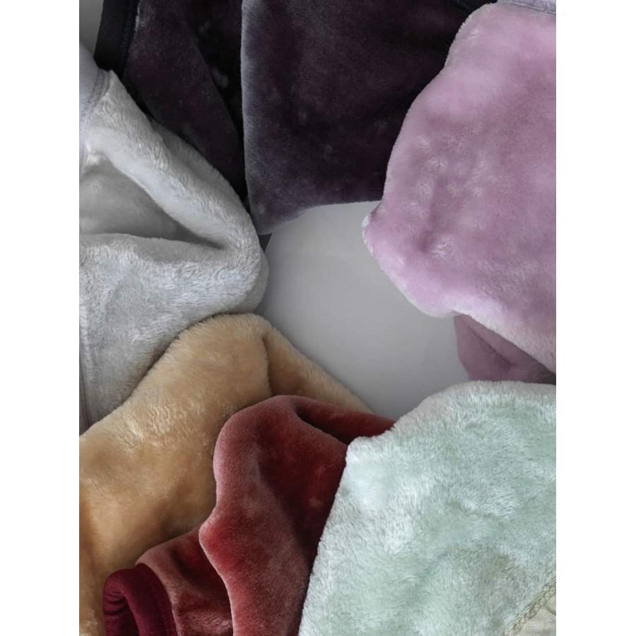 Ημίδιπλη Κουβέρτα chic velvet Μπέζ 160X220 Palamaiki