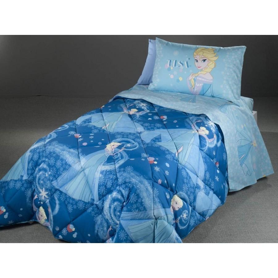 Κουβερλί Παιδικό Μονό frozen blue 170X250 Palamaiki