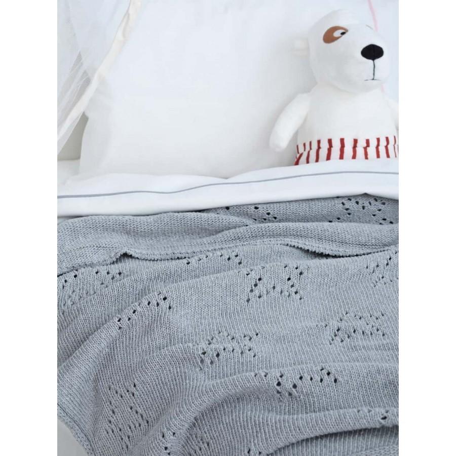Κουβέρτα κούνιας Πλεκτή astro Γκρί 110X150 Palamaiki