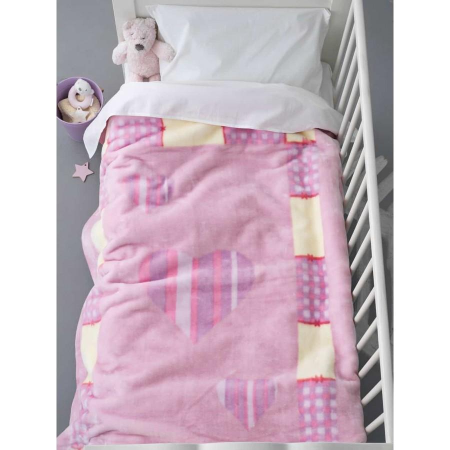 Κουβέρτα κούνιας Βελουτέ bv-714 110X140 Palamaiki