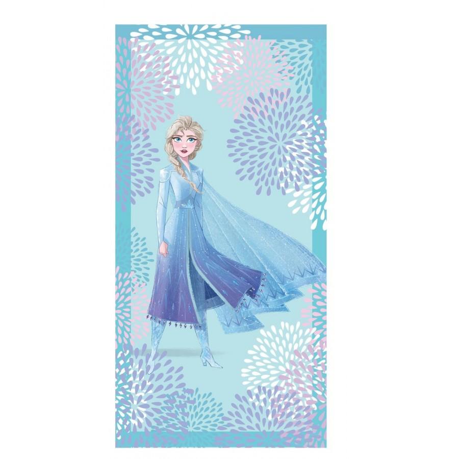 Πετσέτα Θαλάσσης Elsa Blue Disney Palamaiki 75X150