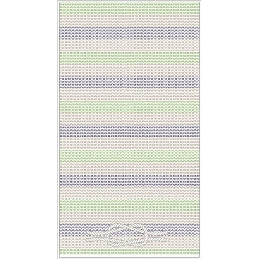 Πετσέτα θαλάσσης rope Πράσινη 75X150 Palamaiki