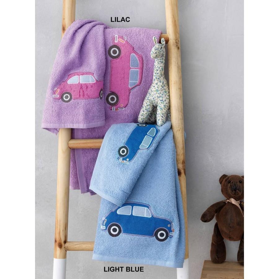 Σετ Παιδικές Πετσέτες car Λιλά 40X60 - 70X140 Palamaiki