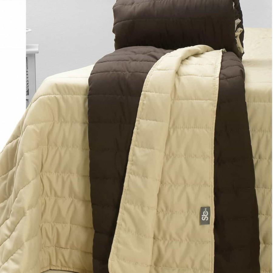 Κουβερλί 220X250 Μονόxρωμο Cool Summer Brown
