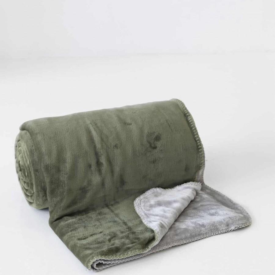 Κουβέρτα Διπλής Όψεως Fleece Μονή Abbracio Grey