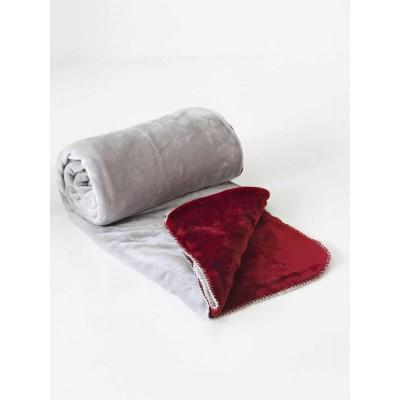 Κουβέρτα Διπλής Όψεως Fleece Μονή Abbracio Silver