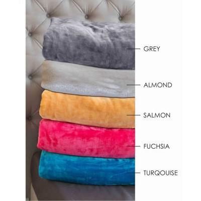 Κουβέρτα Velour 160X240 Χρώμα Tyrol Fuschia