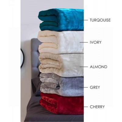 Κουβέρτα Velour 220X240 Χρώμα Tyrol Almond