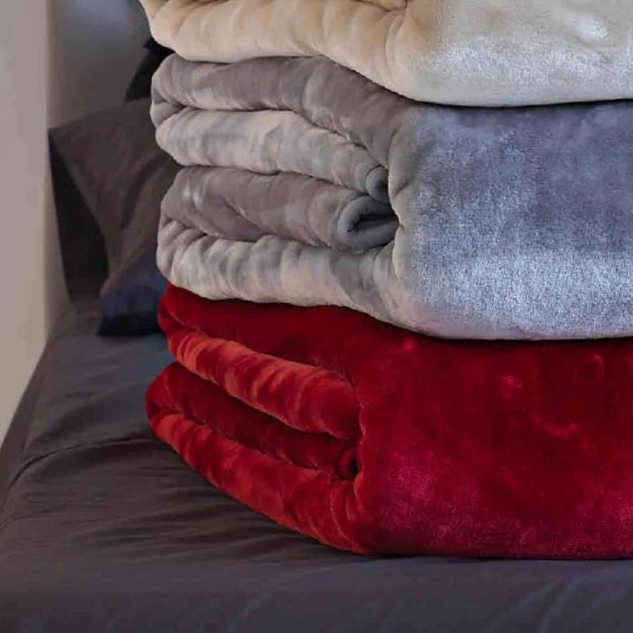 Κουβέρτα Velour 220X240 Χρώμα Tyrol Cherry