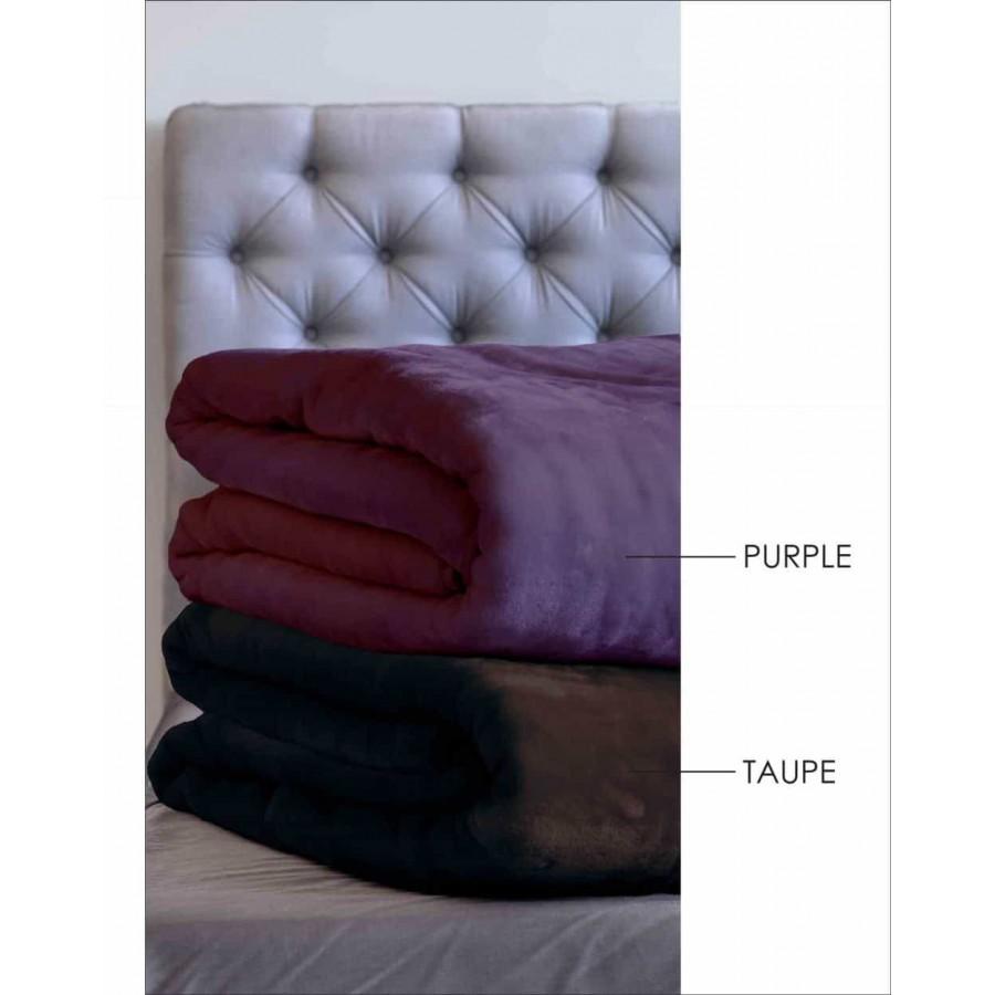 Κουβέρτα Velour 220X240 Χρώμα Tyrol Taupe