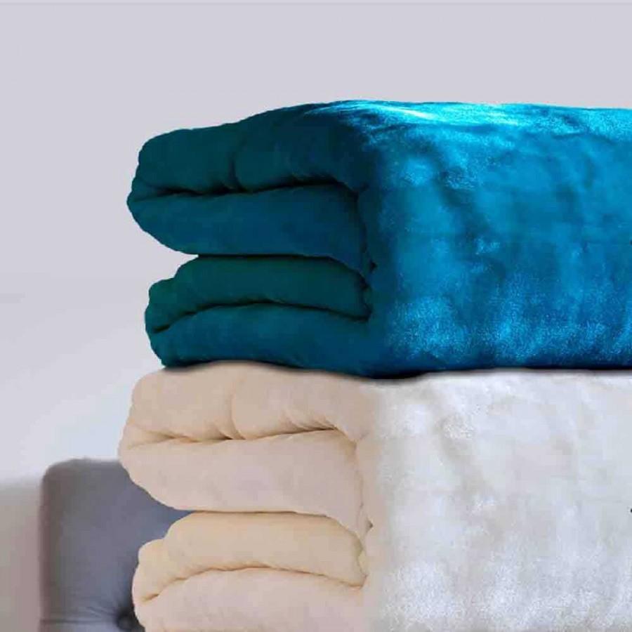 Κουβέρτα Velour 220X240 Χρώμα Tyrol Turqouise