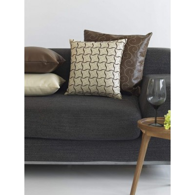 Μαξιλαροθήκη 50X50 Leather Embroidery Brown