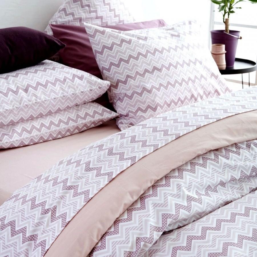 Σετ Σεντόνια Υπέρδιπλα 240x265 Waves Pink