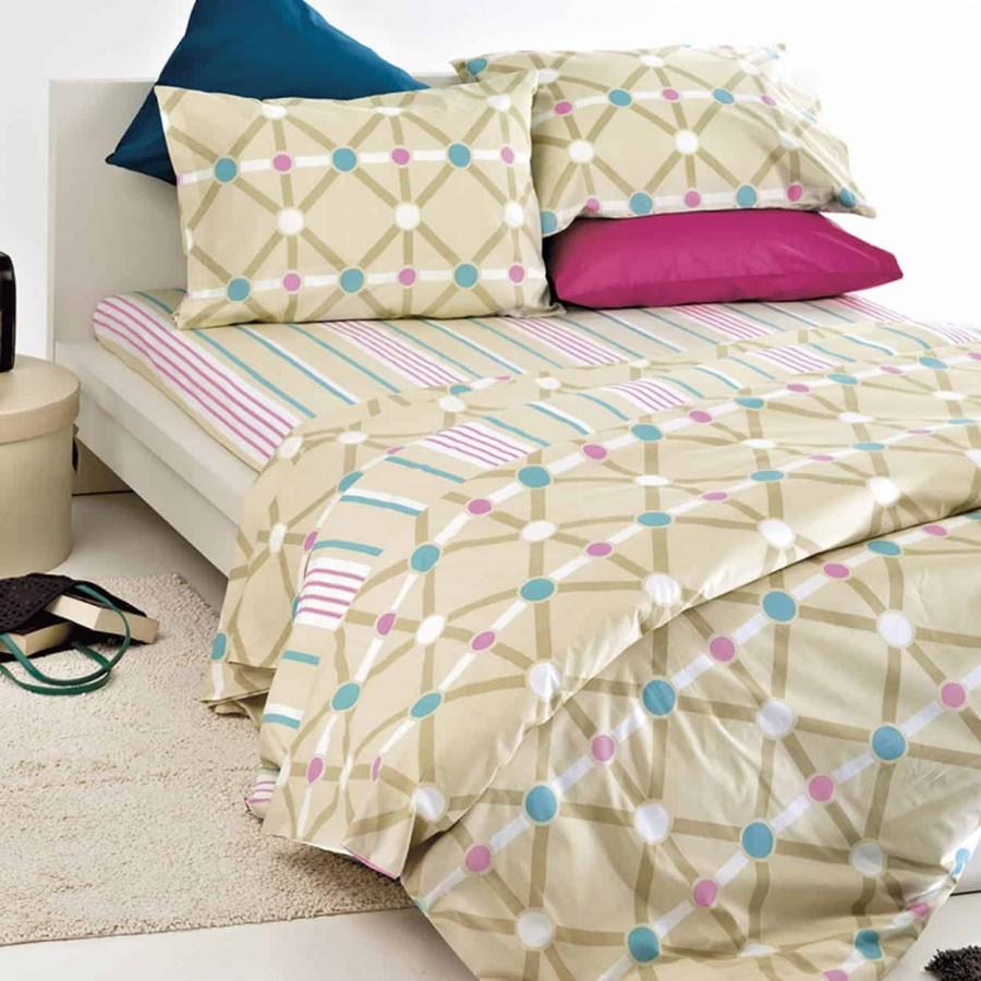 Σετ Σεντόνια Μονά Και Μια Μαξιλαροθήκη Diagonal 160x240