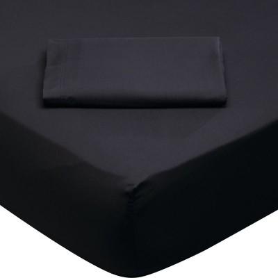 1015 Σεντόνι Ημίδιπλο Με λάστιχο Μαύρο Das Home 120x200+35