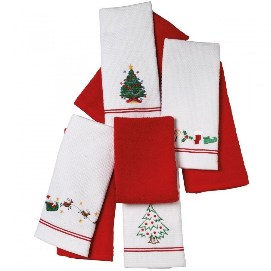 Χριστουγεννιάτικα Ποτηρόπανα 2Τμχ 0600 Das Home 40x60