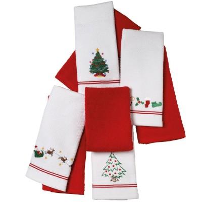 Χριστουγεννιάτικα Ποτηρόπανα 2Τμχ 0603 Das Home 40x60