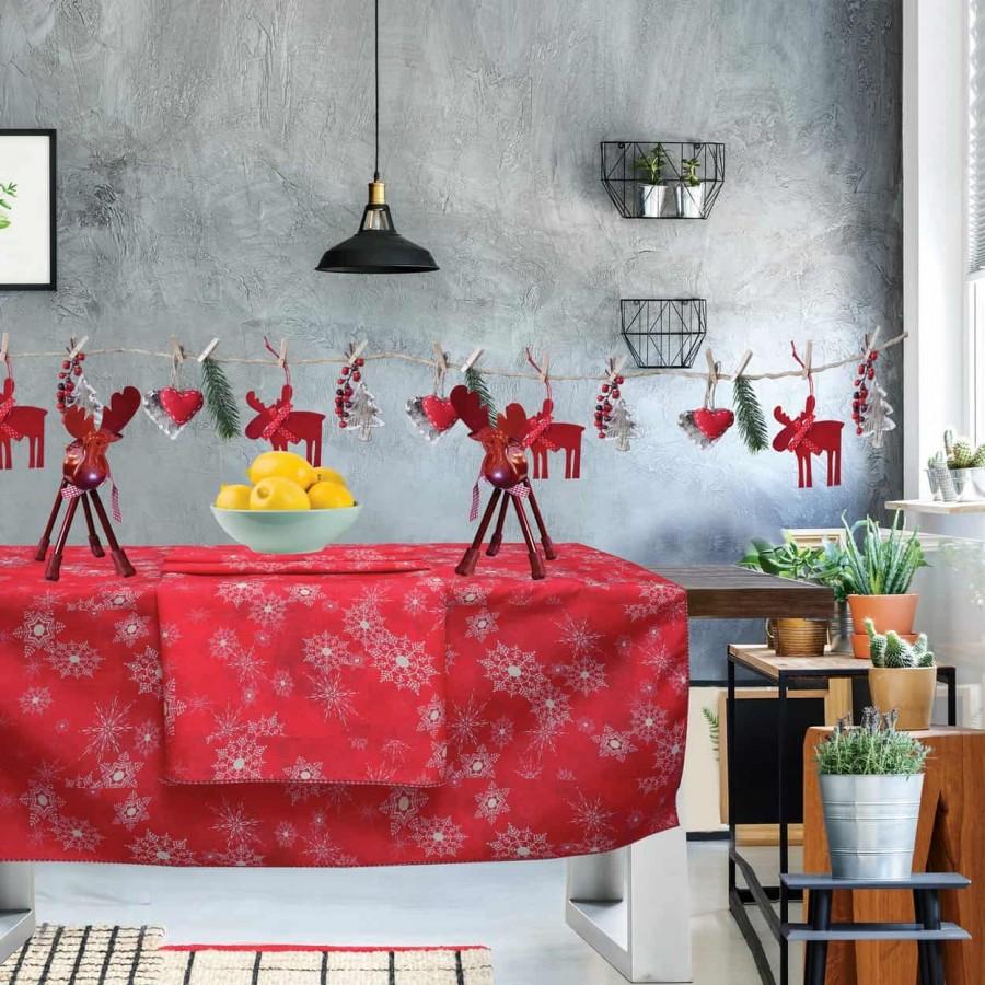 Χριστουγεννιάτικο τραπεζομάντηλο 553 Das Home 140x180