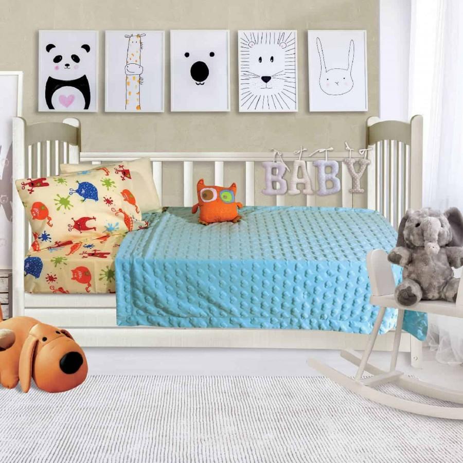 Κουβέρτα Fleece Αγκαλιάς Das Baby Relax 6363 110x150