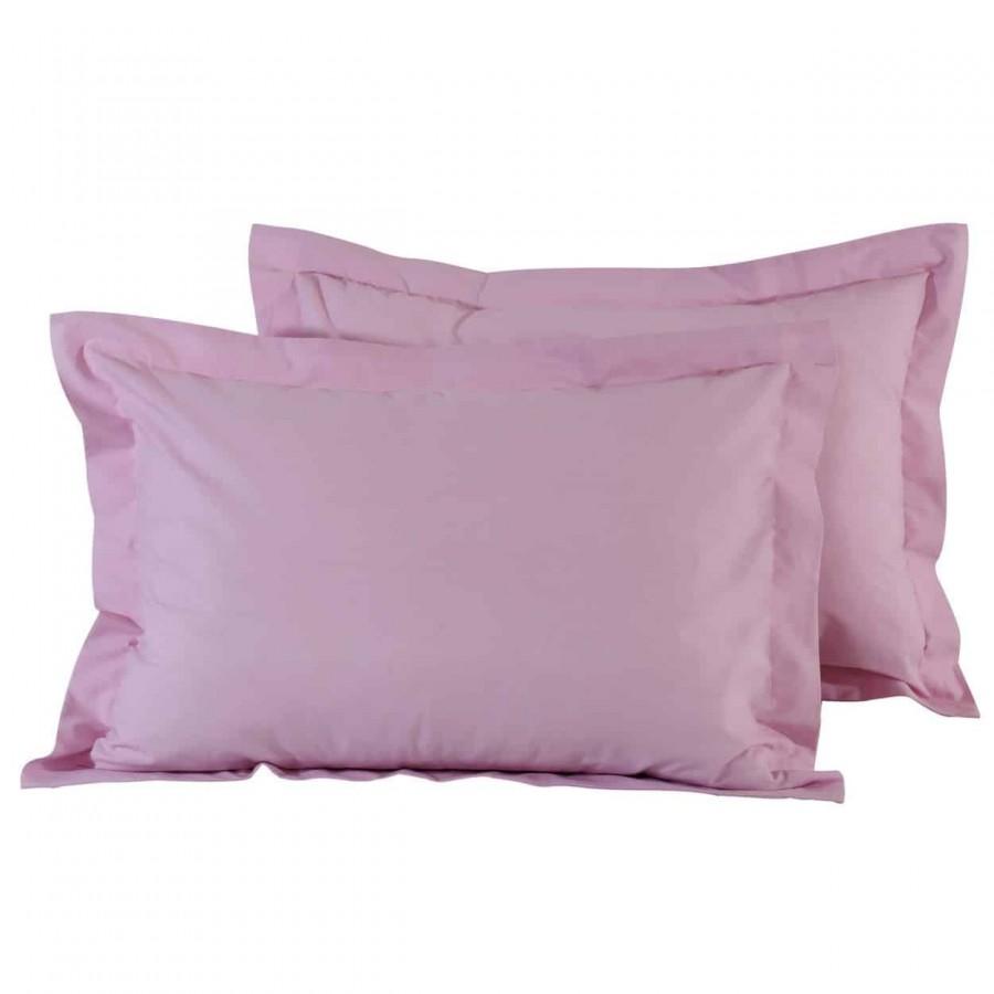 Μαξιλαροθήκες Μονόχρωμες Ροζ 1012 50x70+5