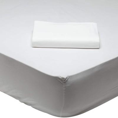 Μονόχρωμο Σεντόνι Υπέρδιπλο Λευκό 1001 230x260
