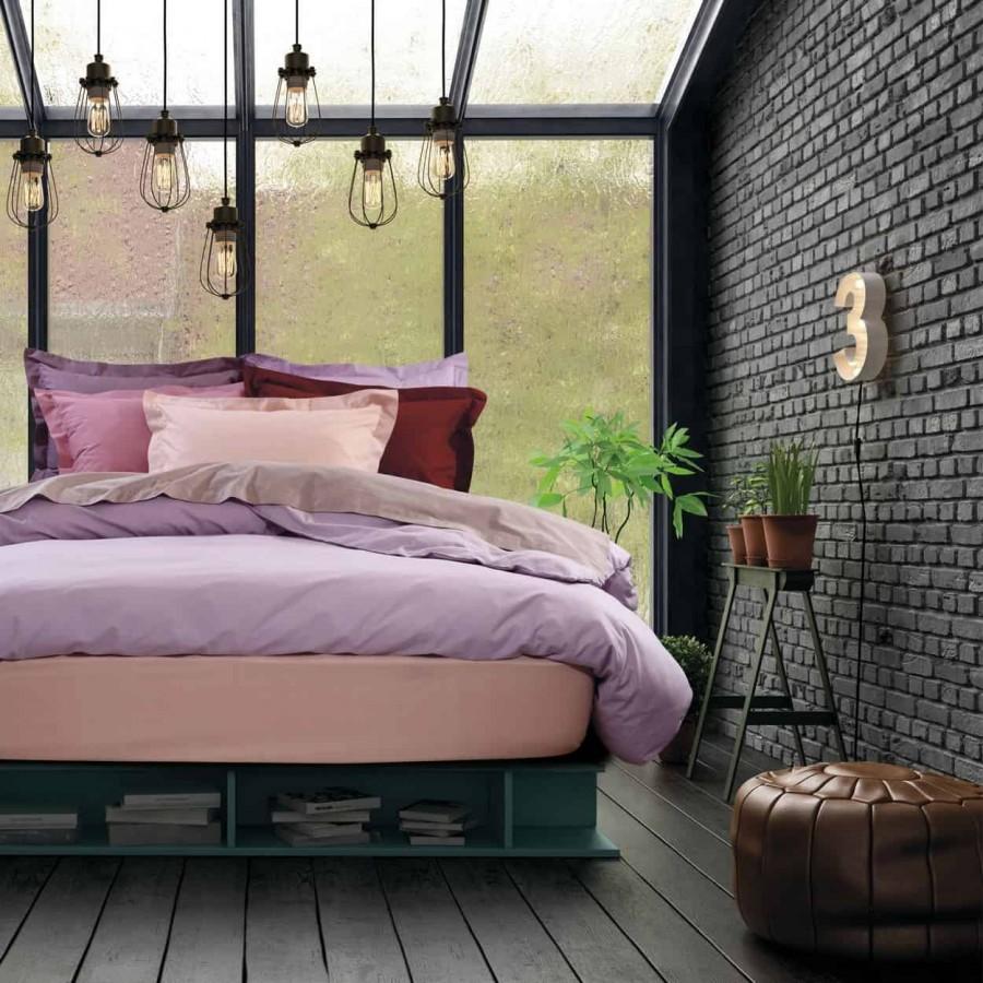 Σεντόνι Υπέρδιπλο Μονόχρωμο με λάστιχο Ροζ 1012 Das Home 170x200+35