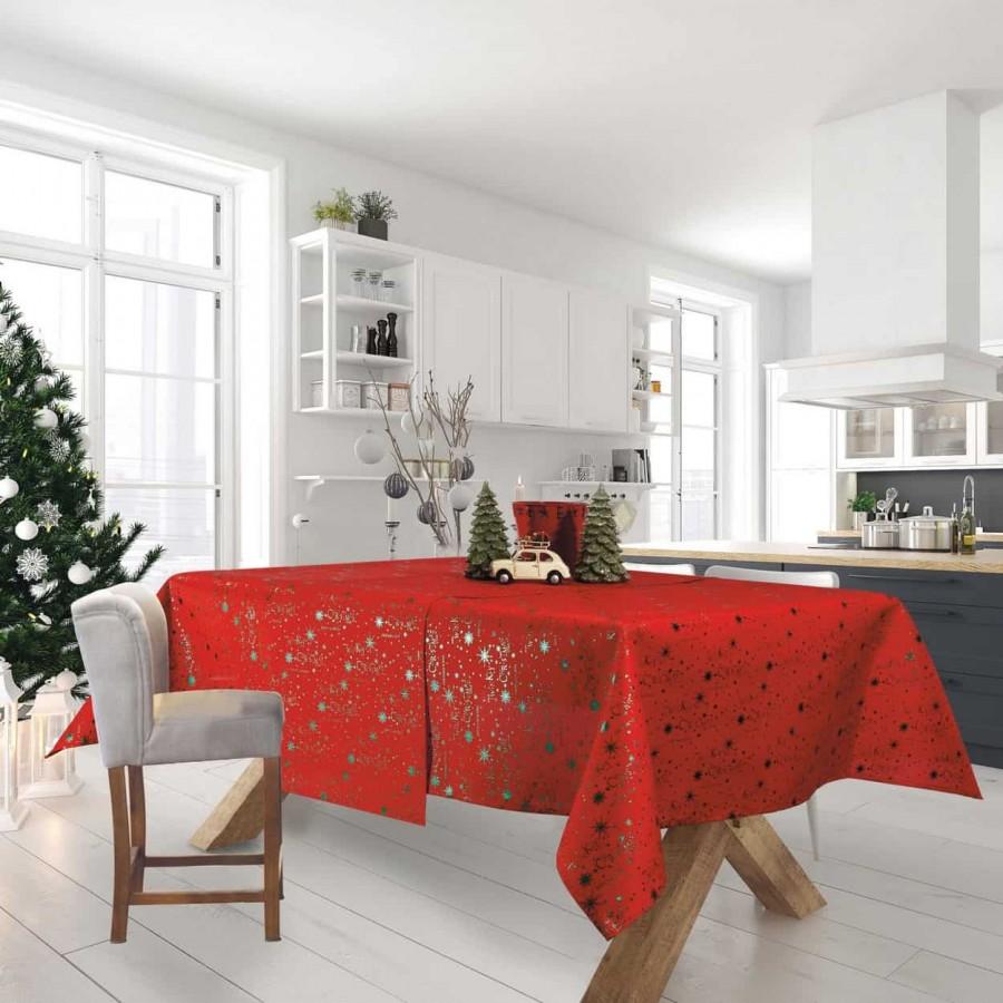 Τραπεζομάντηλο Χριστουγεννιάτικο 574 Das Home 140x180
