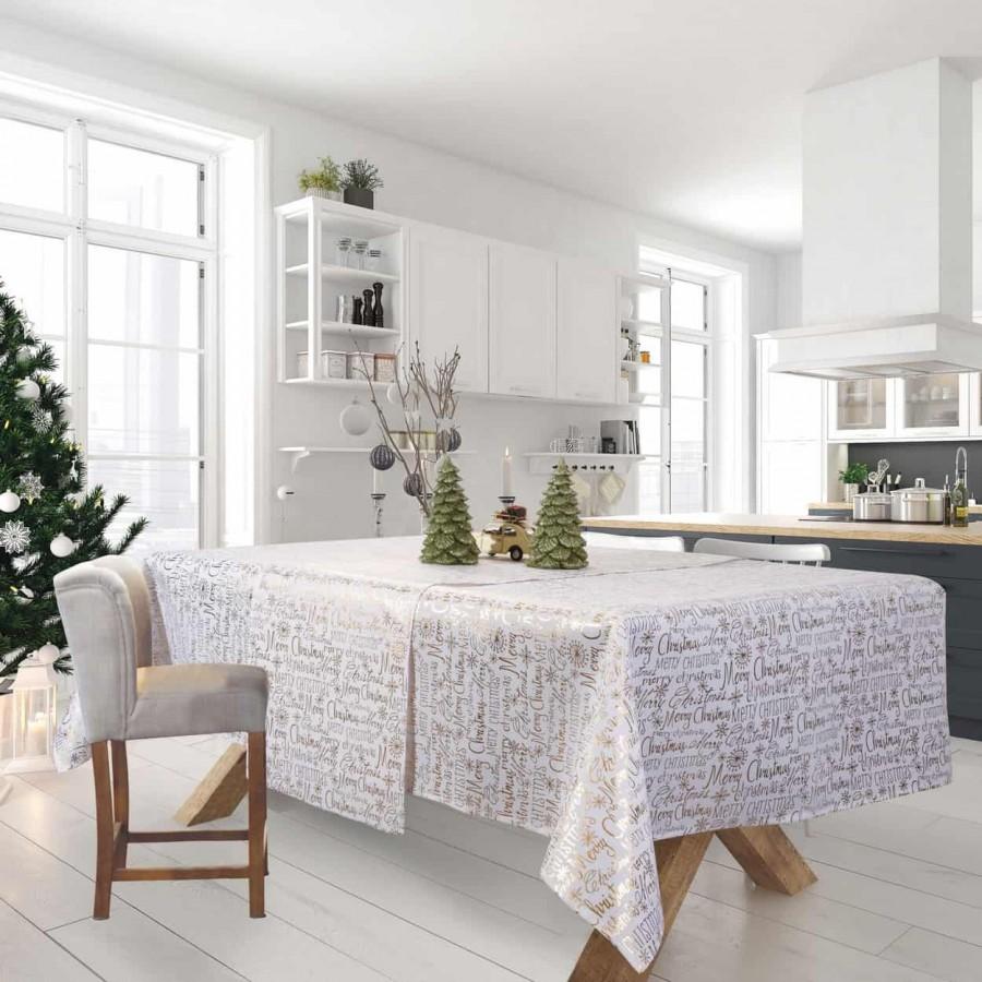 Τραπεζομάντηλο Χριστουγεννιάτικο 575 Das Home 140x180