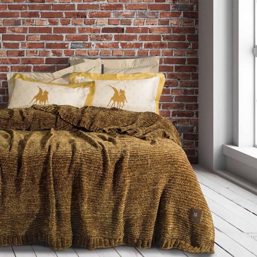 Υπέρδιπλη Κουβέρτα Σενίλ Polo 2423 220x240