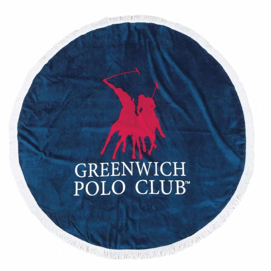 Πετσέτα Θαλάσσης Στρογγυλη Φ160 Greenwich Polo Club 2824 Φ160