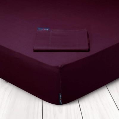 Σεντόνι Μονόχρωμο Μπορντώ King Size Με Λάστιχο Greenwich Polo Club 2205 180x200+35