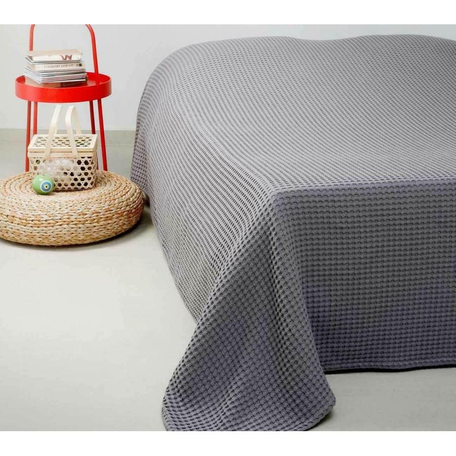 Κουβέρτα Πικέ Μονή Patmos 20 D. Grey Melinen 170Χ240