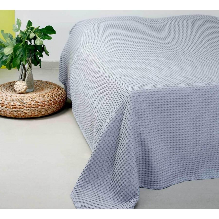 Κουβέρτα Πικέ Μονή Patmos 20 L.Grey Melinen 170Χ240