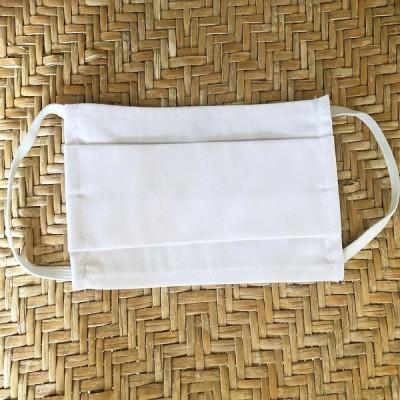 Μάσκα Βαμβακερή 50 Τεμάχια White/Λευκη Melinen