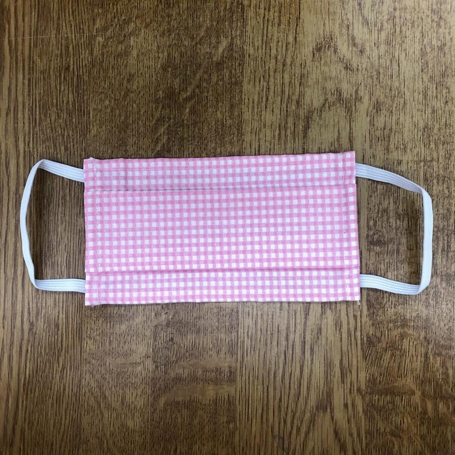 Μάσκα Βαμβακερή Check Pink Melinen